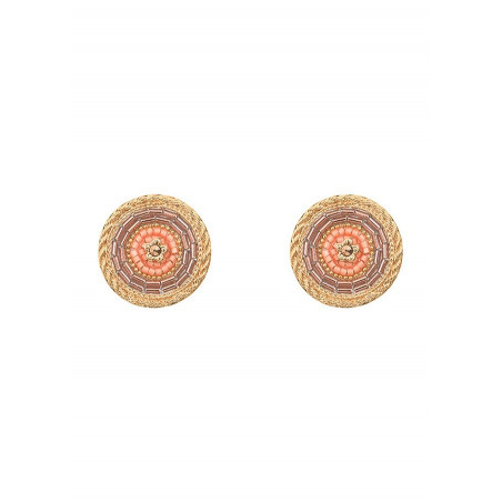 Refined crystal clip-on earrings | Pink
