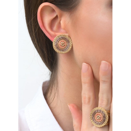 Refined crystal clip-on earrings | Pink83477