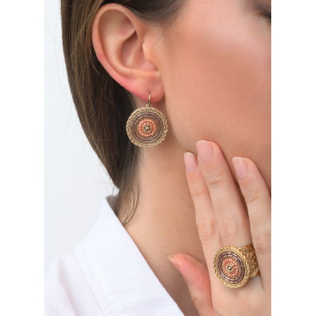 Refined sleeper earrings with crystal l Pink83487