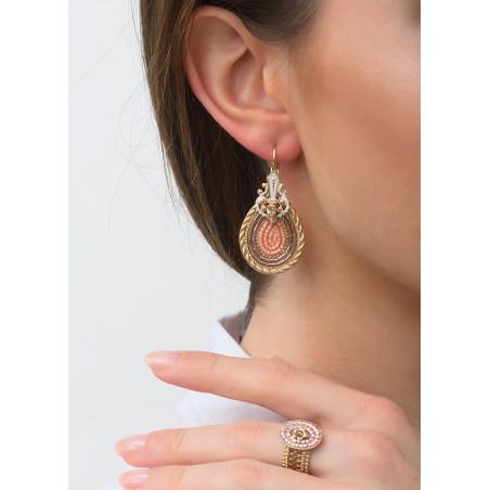 Boucles d'oreilles dormeuses glamour cristal | rose83497
