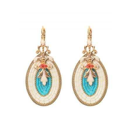 Boucles d'oreilles dormeuses gracieuses cristal | bleu
