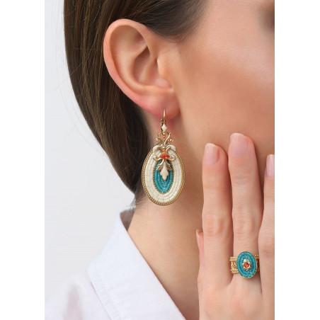 Boucles d'oreilles dormeuses gracieuses cristal | bleu83502