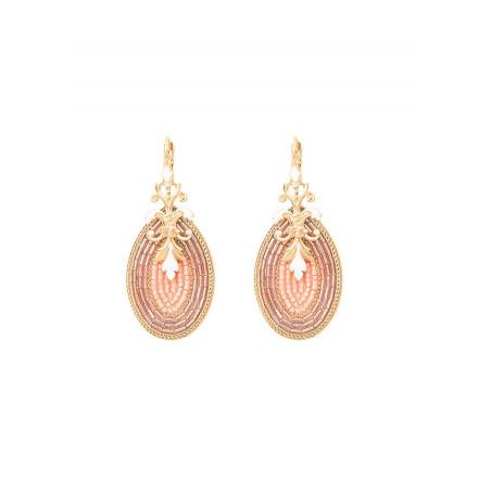 Boucles d'oreilles dormeuses séduisantes cristal | rose