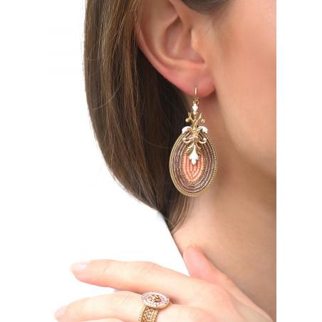 Boucles d'oreilles dormeuses séduisantes cristal | rose83507
