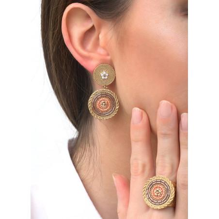 Boucles d'oreilles clips harmonieuses cristaux | rose83517