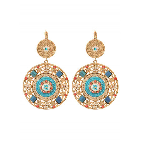 Precious Swarovksi crystals and bead sleeper earrings | Blue