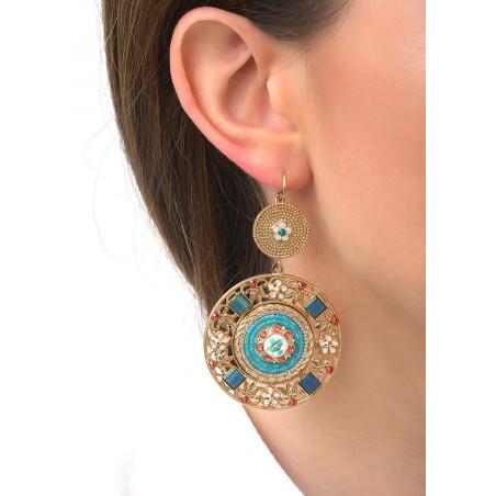 Precious Swarovksi crystals and bead sleeper earrings | Blue83552