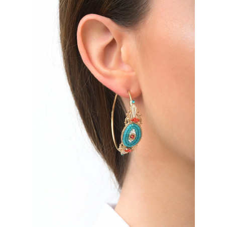 Refined crystal hoop earrings for pierced ears | Blue83592