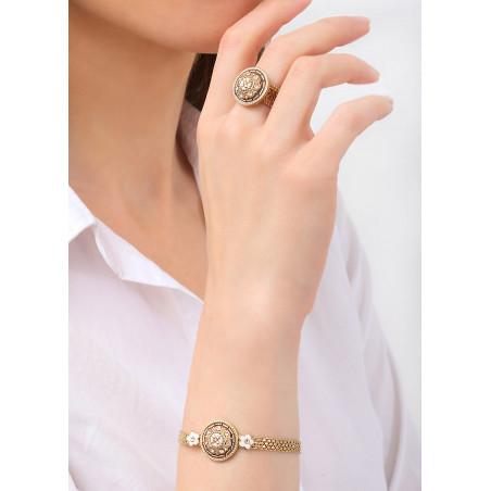 Bracelet souple féminin Perles du Japon et cristaux | rose83627