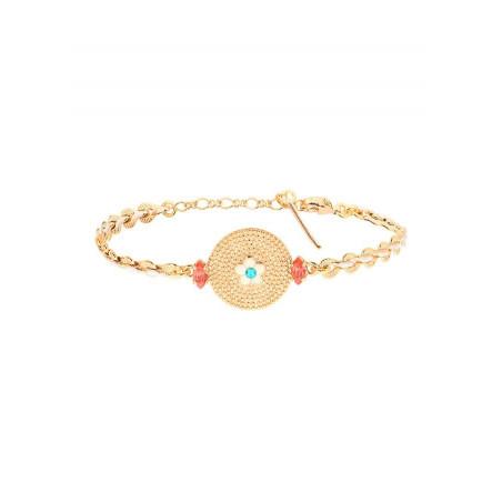 Bracelet souple gracieux cristaux | bleu