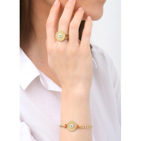 Bracelet souple gracieux cristaux | bleu83632