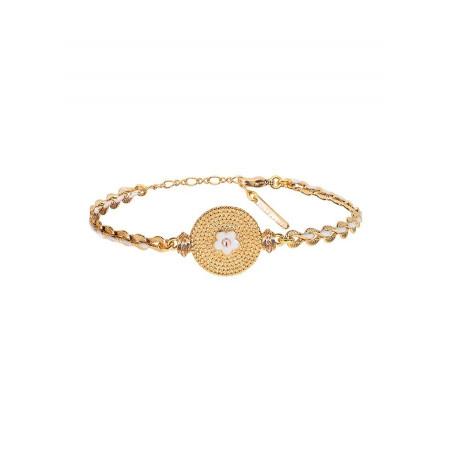 Glamorous crystal flexible bracelet  Pink