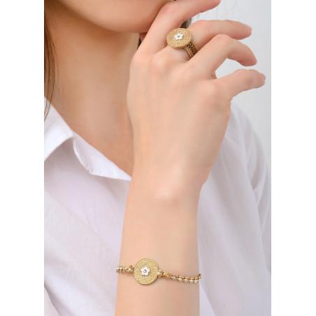 Glamorous crystal flexible bracelet  Pink83637