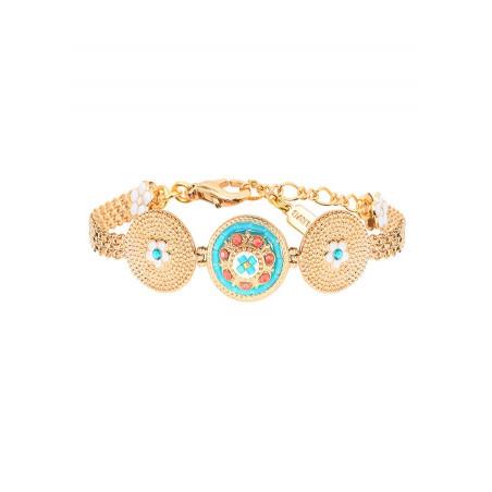 On-trend Japanese seed beads crystal flexible bracelet  Blue