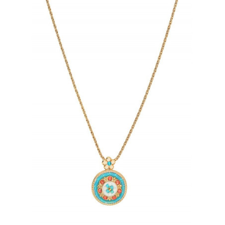 On-trend Japanese seed bead pendant necklace | Blue