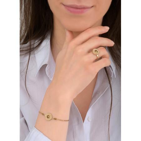 Bracelet souple glamour métal et cristal | doré84015
