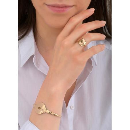 Bracelet jonc élégant métal et cristal | doré84045