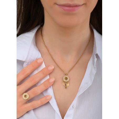 Collier pendentif féminin métal et cristal | doré84075