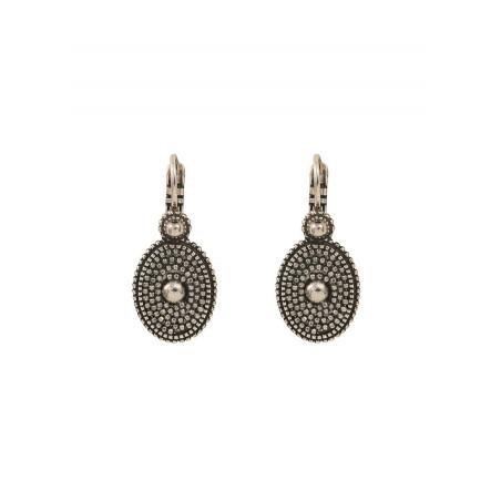 Boucles d'oreilles dormeuses minimalistes métal | argenté