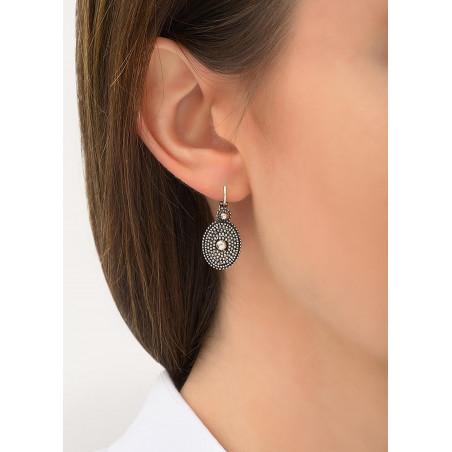 Boucles d'oreilles dormeuses minimalistes métal | argenté84200
