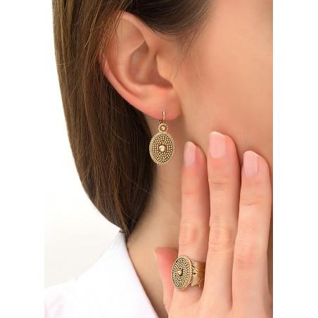 Boucles d'oreilles dormeuses intemporelles métal | doré84205