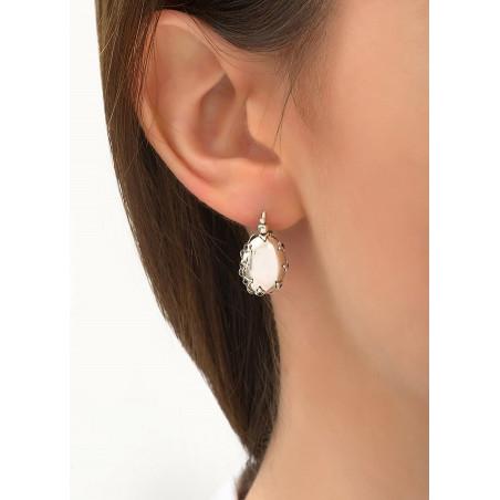 Boucles d'oreilles dormeuses classiques métal | argenté84215