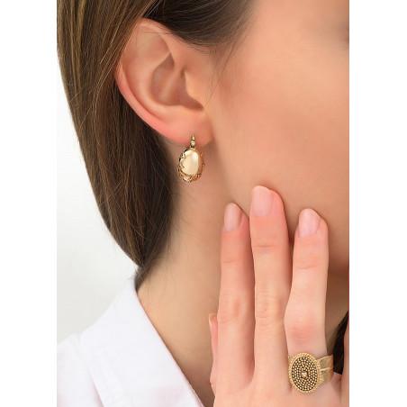 Boucles d'oreilles dormeuses élégantes métal | doré84220