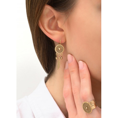 Boucles d'oreilles dormeuses chics métal | doré84235
