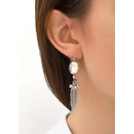 Boucles d'oreilles dormeuses amérindiennes métal   argenté84260