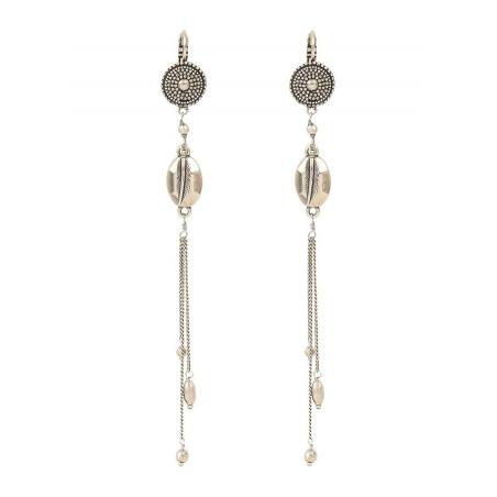 Boucles d'oreilles dormeuses légères métal | argenté