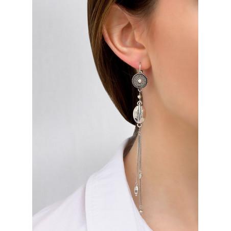 Boucles d'oreilles dormeuses légères métal | argenté84275