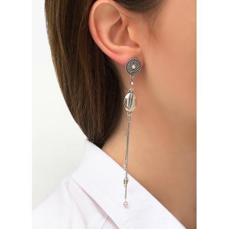 Boucles d'oreilles percées légères métal | argenté84290