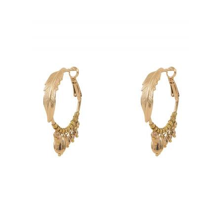 Boucles d'oreilles créoles percées glamour métal | doré