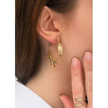 Boucles d'oreilles créoles percées glamour métal | doré84310