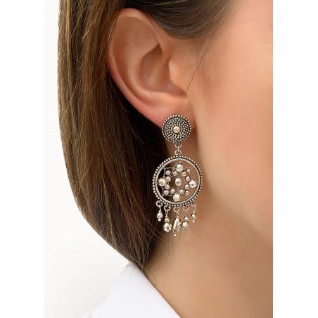 Boucles d'oreilles clips raffinées métal | argenté84320