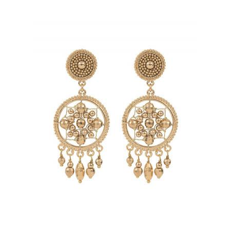 Boucles d'oreilles clips sophistiquées métal   doré