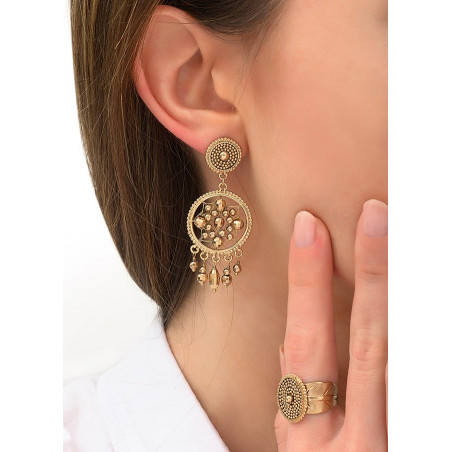 Boucles d'oreilles clips sophistiquées métal   doré84325