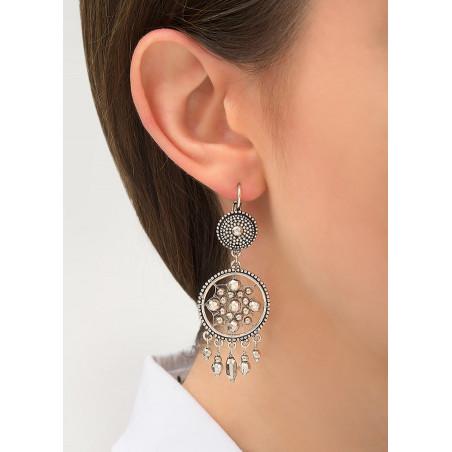 Boucles d'oreilles dormeuses raffinées métal   argenté84335
