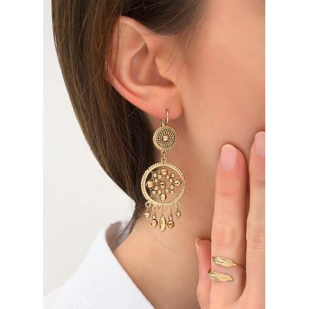 Boucles d'oreilles dormeuses sophistiquées métal | doré84340