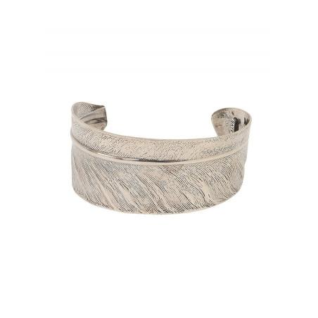 Bracelet manchette ajustable élégant métal | argenté
