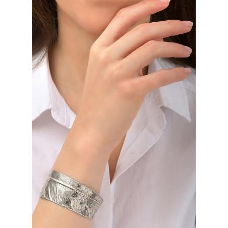 Bracelet manchette ajustable élégant métal | argenté84485