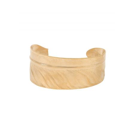 Sophisticated metal adjustable cuff bracelet | gold-plated