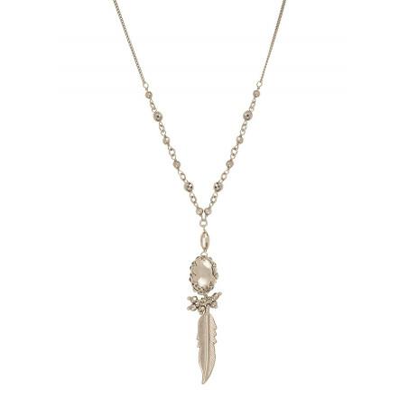 Collier pendentif féminin métal | argenté