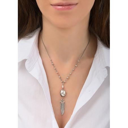 Collier pendentif féminin métal | argenté84500