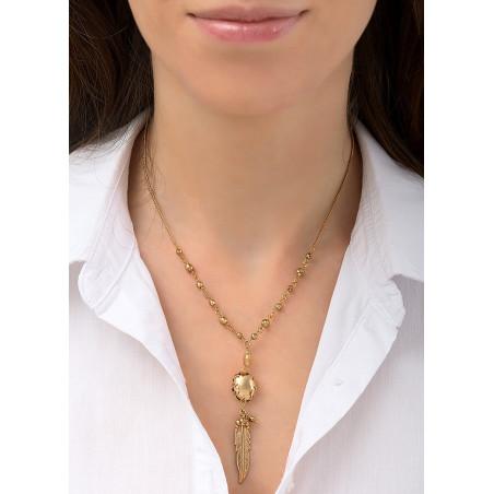 Collier pendentif discret métal   doré84505