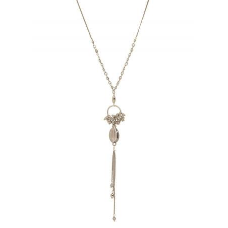 Collier pendentif élégant métal   argenté