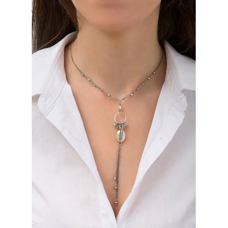 Collier pendentif élégant métal   argenté84515