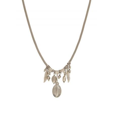 Collier pendentif charm's tendance métal | argenté
