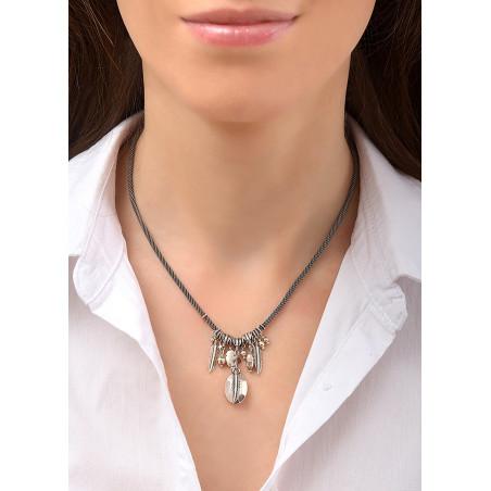 Collier pendentif charm's tendance métal | argenté84530