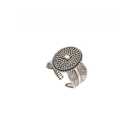 Bague ajustable moderne métal | argenté
